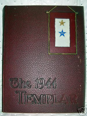 "1944 Templar ""Temple University Yearbook"" Philadelphia"