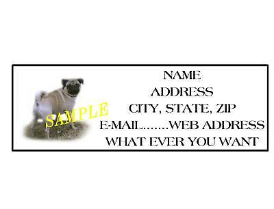 Pug Address Labels Cool!!! #1