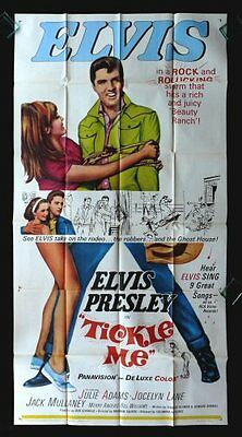 Tickle Me * Cinemasterpieces 3Sh Orig Movie Poster 1965 Nm Elvis Presley