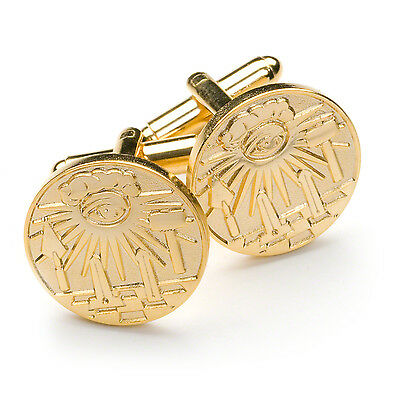 Superb Quality Detailed Gold Masonic Cufflinks