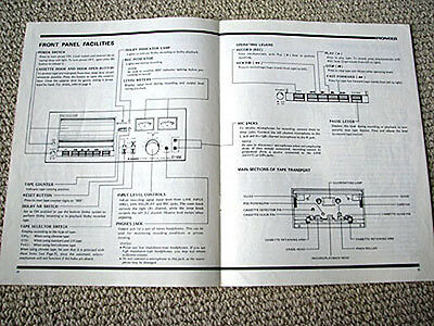 Pioneer CT-F4040 cassette deck owners manual