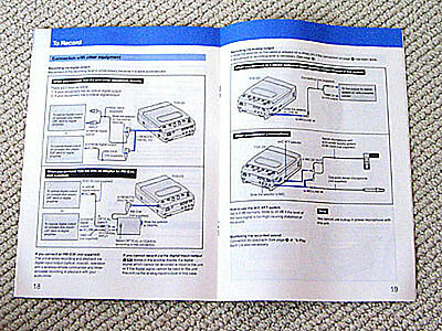 Sony TCD-D3 DAT deck owners manual, ENGLISH edition