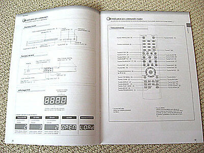 Toshiba SD-3990 DVD player owners manual, FRENCH