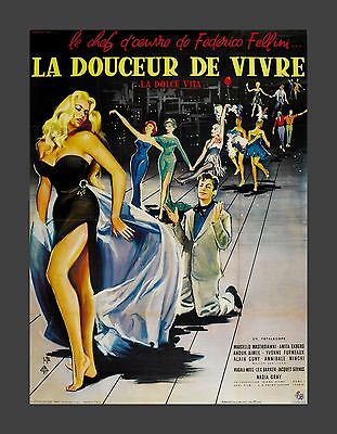LA DOLCE VITA * CineMasterpieces FRENCH ANITA EKBERG ORIGINAL MOVIE POSTER 1960