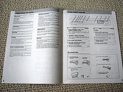 Technics ST-GT350 radio tuner owners manual