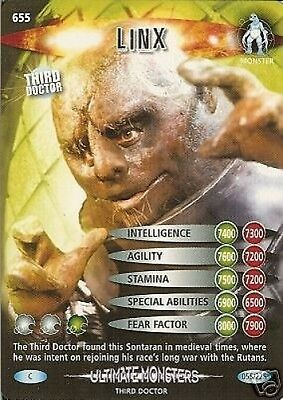 Dr Who Ultimate Monsters Card 655 Linx