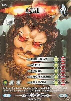 Dr Who Ultimate Monsters Card 625 Azal