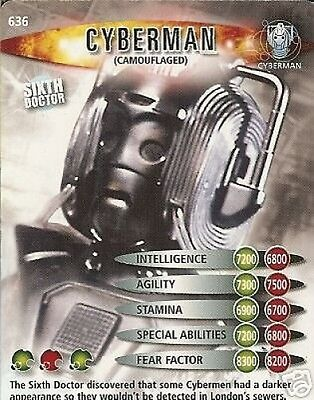 Dr Who Ultimate Monsters 636 Cyberman (Camouflaged)