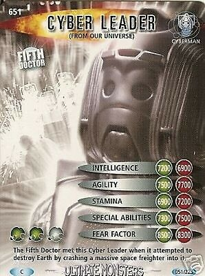 Dr Who Ultimate Monsters 651 Cyber Leader