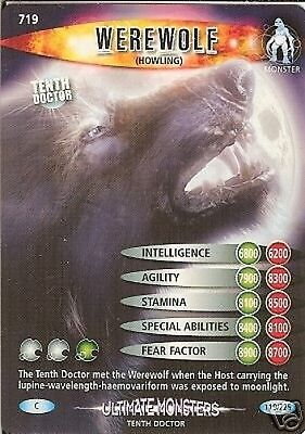 Dr Who Ultimate Monsters 719 Werewolf (Howling)