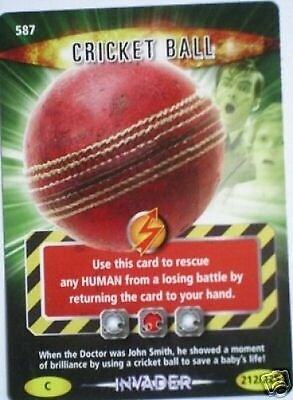 Dr Who Invader Card 587 Cricket Ball  - Mint !!
