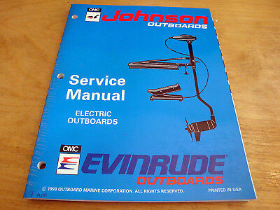 JOHNSON EVINRUDE 1994 Trolling Motor OEM Shop Factory Repair