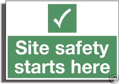 SITE SAFETY Strong 3mm Gloss R /Plactic Sign