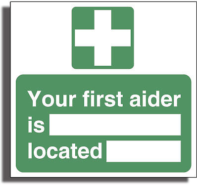 FIRST AIDER Strong 3mm Gloss R /Plactic Sign