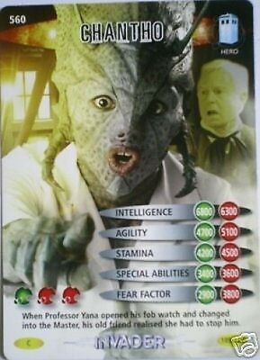 Dr Who Invader Card 560 Chantho  - Mint !!