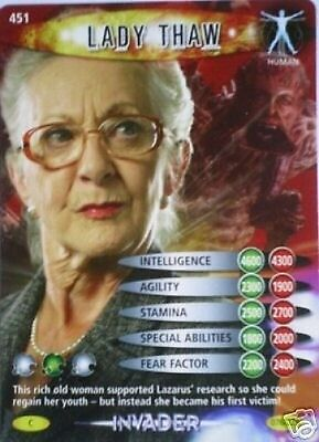 Dr Who Invader Card 451 Lady Thaw  - Mint !!