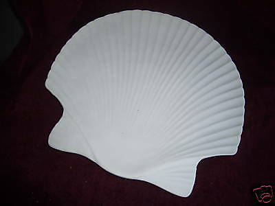 "14"" Shell Plate Mold for art glass,  Painted Glass"
