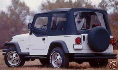 Soft Top Black Clear Windows New 68115 88-95 For Jeep Wrangler Yj