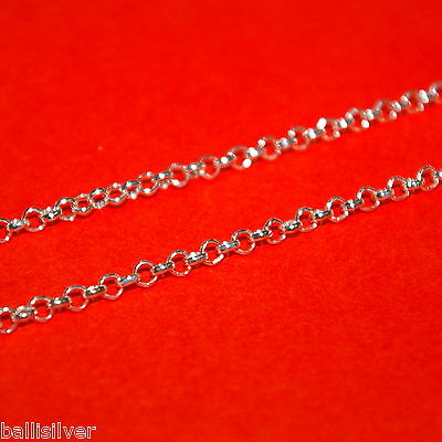 "3 pcs LOT 20"" 50cm Italian 925 Sterling Silver 3mm ROUND ROLO / BELCHER Chains"