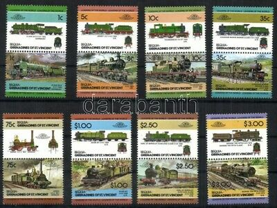 St. Vincent Grenadines Bequia stamp MNH Railway WS36018