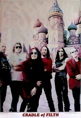 CRADLE OF FILTH POSTER Moscow Group Shot HOT NEW 24s36