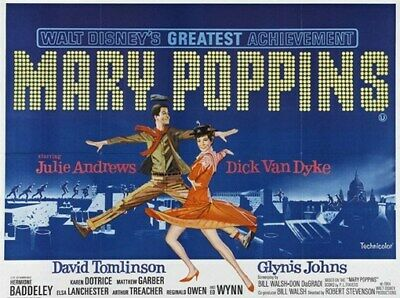 MARY POPPINS MOVIE POSTER Julie Andrews HOT VINTAGE 2