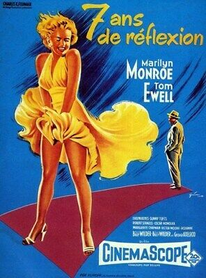 THE SEVEN YEAR ITCH MOVIE POSTER Marilyn Monroe 2