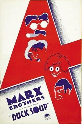 DUCK SOUP MOVIE POSTER The Marx Brothers RARE VINTAGE 3