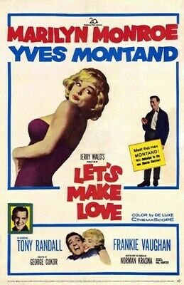 Let/'s make love Marilyn Monroe vintage movie poster #13