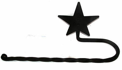Hand Forged Black Wrought Iron Paper Towel Bar Rack Holder Twisted Rod STAR USA
