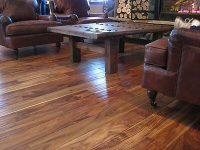 "5""  Asian Walnut Hand Scraped Hardwood Wood Flooring Floor Sample"