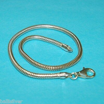 4 pieces Sterling Silver 925 3mm Thick SNAKE BRACELETS LOT