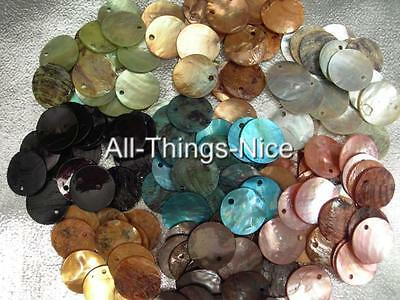 Natural PEARL SHELL 15mm Dyed Beads Jewellery Making Findings WHOLESALE Lot 100