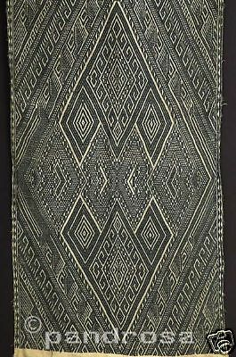 Ethnic Textiles: Geometrical tribal shawl from Laos 1950's
