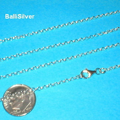 6 St. Silver 2.2mm ROUND ROLO / BELCHER Chains Lot 16""