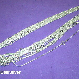 "10 Sterling SILVER 16"" SNAKE 020 CHAINS Wholesale Lot"