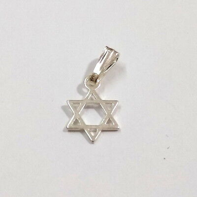 Sterling Silver very small STAR OF DAVID Charm Pendant