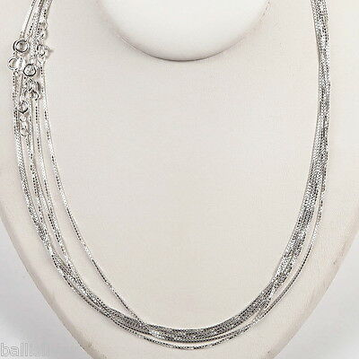 10 Sterling SILVER medium thick BOX 019 CHAINS Lot 18""