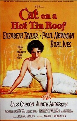 CAT ON A HOT TIN ROOF MOVIE POSTER Elizabeth Taylor 1