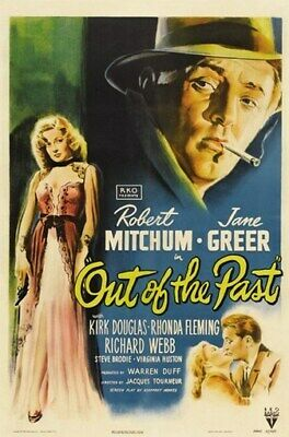 OUT OF THE PAST MOVIE POSTER Robert Mitchum VINTAGE 1