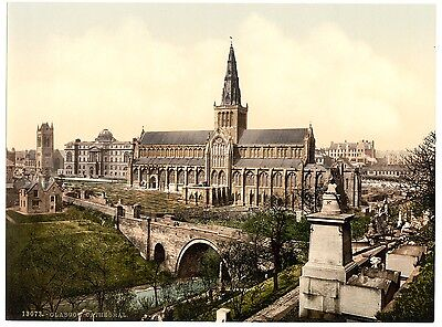 6 Glasgow University Cathedral George Square Enochs Station Old Photos Pictures