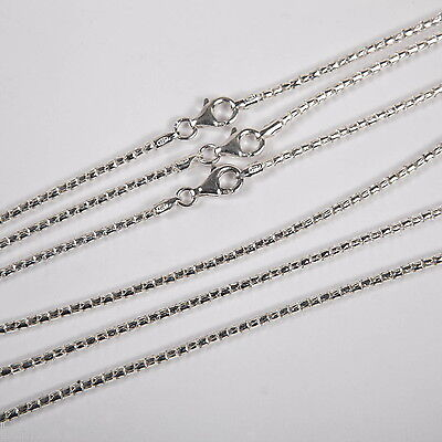 """3 pieces 925 Sterling Silver 2mm COREANA / POPCORN 18"""" CHAIN NECKLACES Lot"""