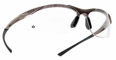 Bolle contour clear wraparound safety glasses with FREE storage pouch