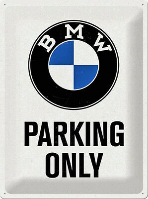 * Schild BMW Parking Only Parkschild Deko Garage Poster Werkstatt *229