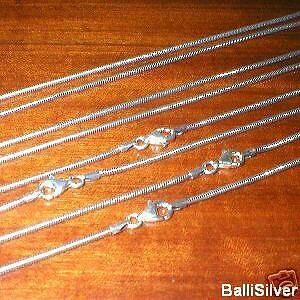 4 Sterling Silver OXIDIZED 1.6mm SNAKE Chains Lot 16""