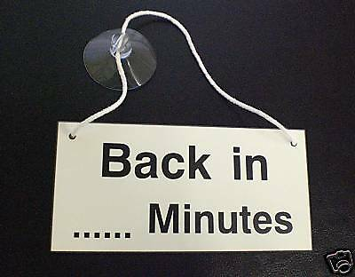 I'll Be Back Signs - Custom Made - Hanging Signs