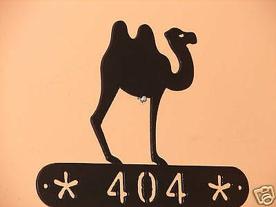 Camel Metal Home Address Sign  Wall Decor House Art