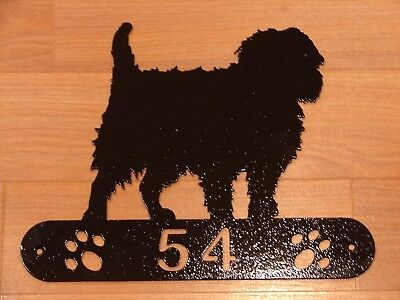 Affenpinscher Dog Metal Home Address Sign House Decor
