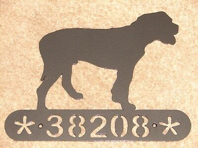 American Bulldog  Metal Home Address Sign House Decor