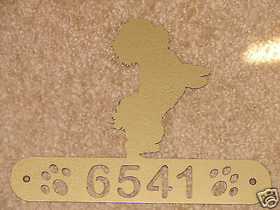 Bichon Frise Metal Home Address Sign House Decor Dog